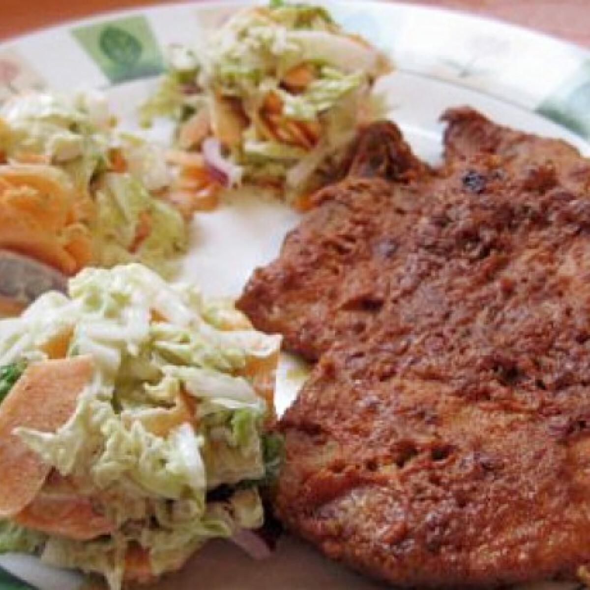 Mézes-paprikakrémes kéregben sült sertéshús