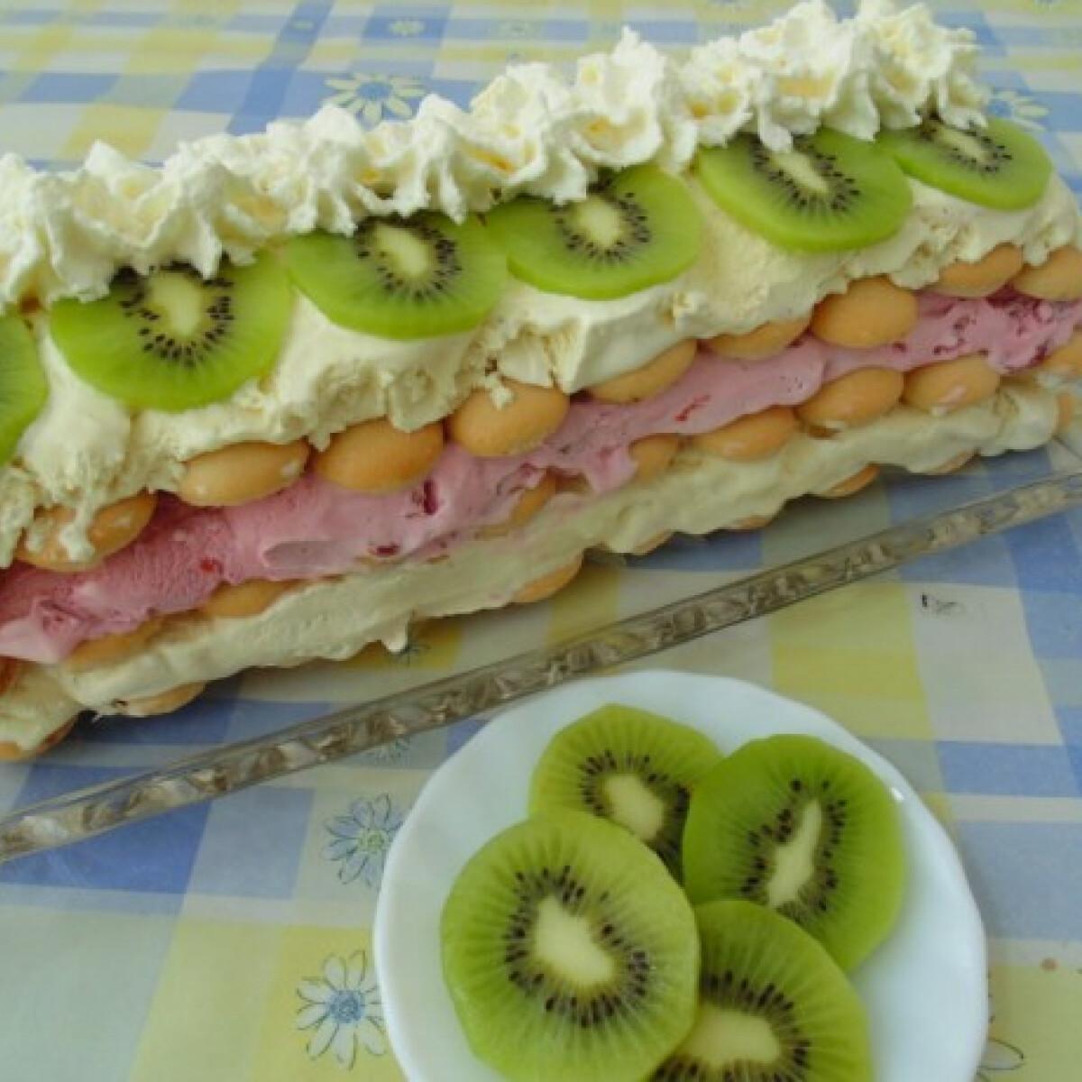 Ezen a képen: Gyümölcsös fagylalttorta