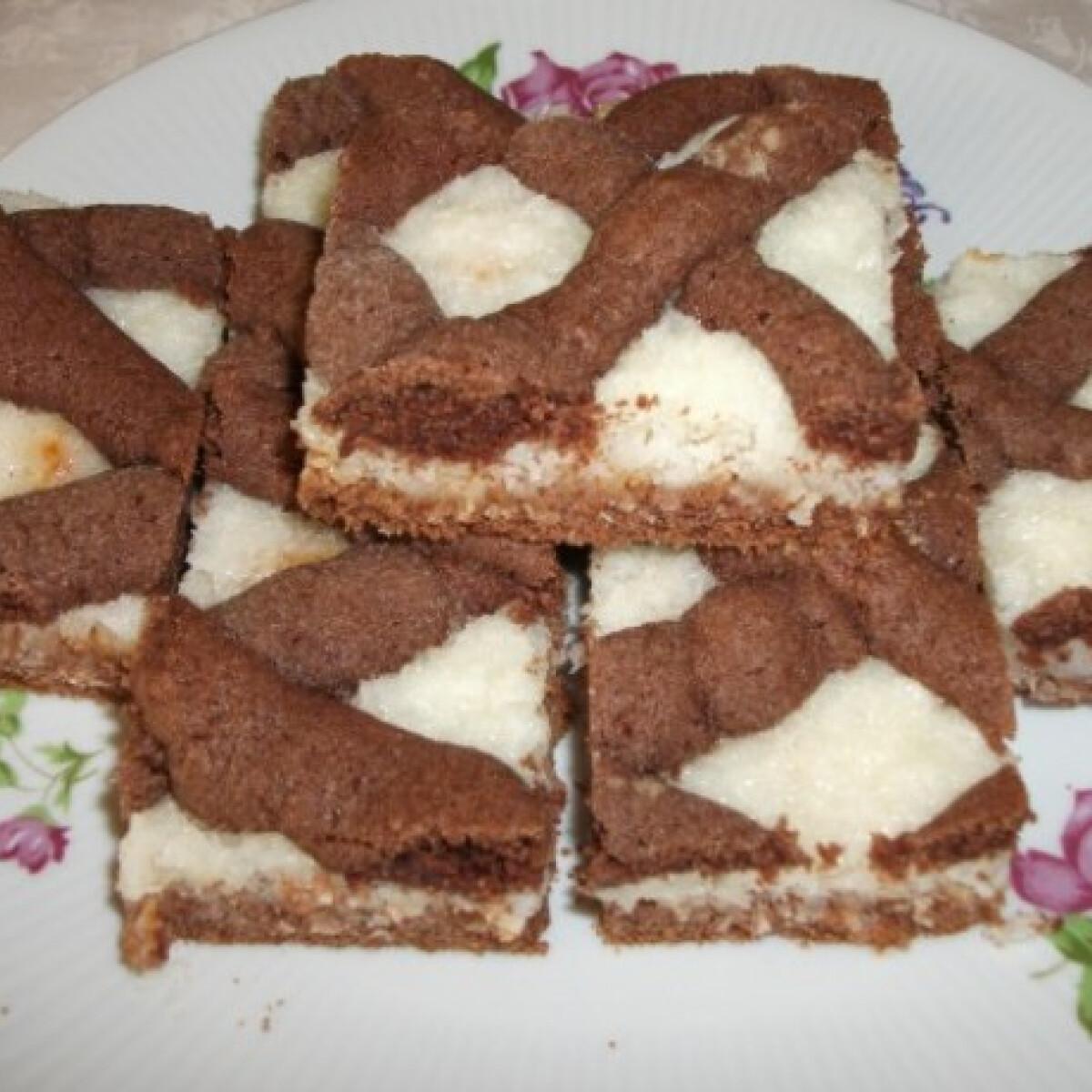 Rácsos kókuszos süti