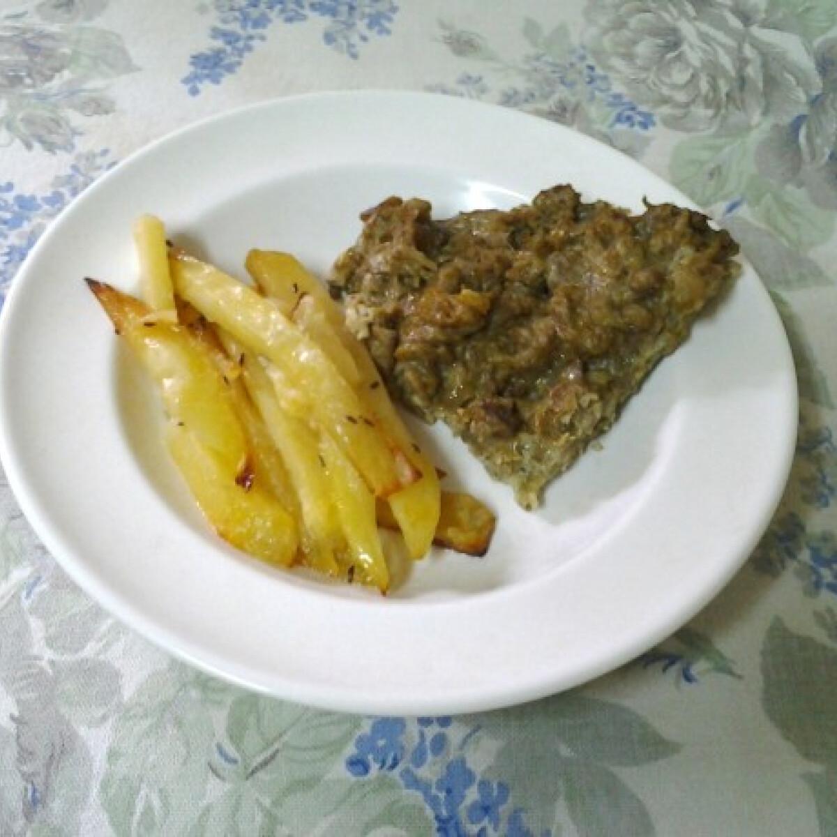 Ezen a képen: Padlizsános omlett