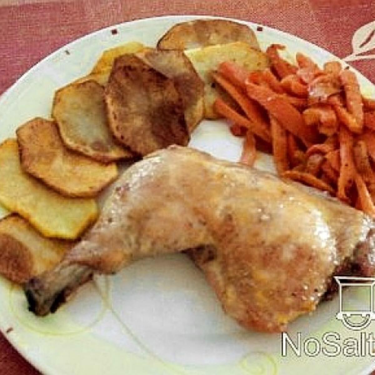 Ezen a képen: Sörös csirke korianderes répával