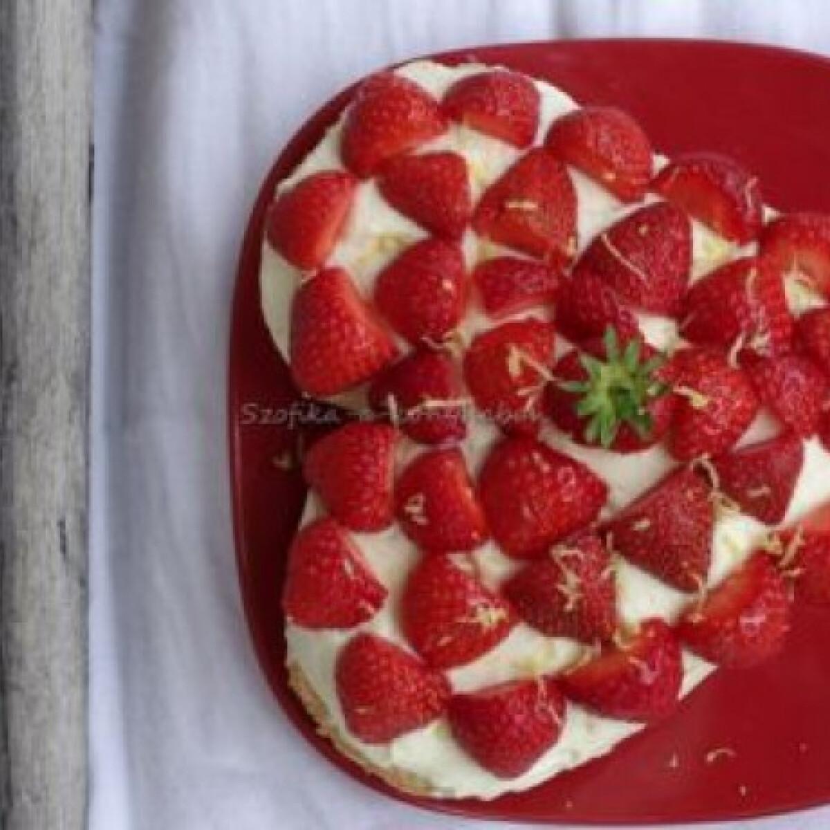 Citromos-ricottakrémes torta