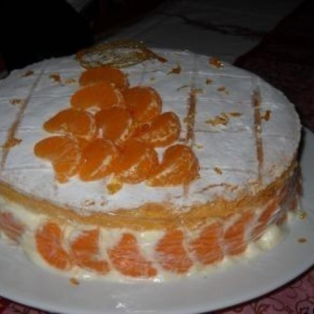 Ezen a képen: Tejszínhabos mandarintorta