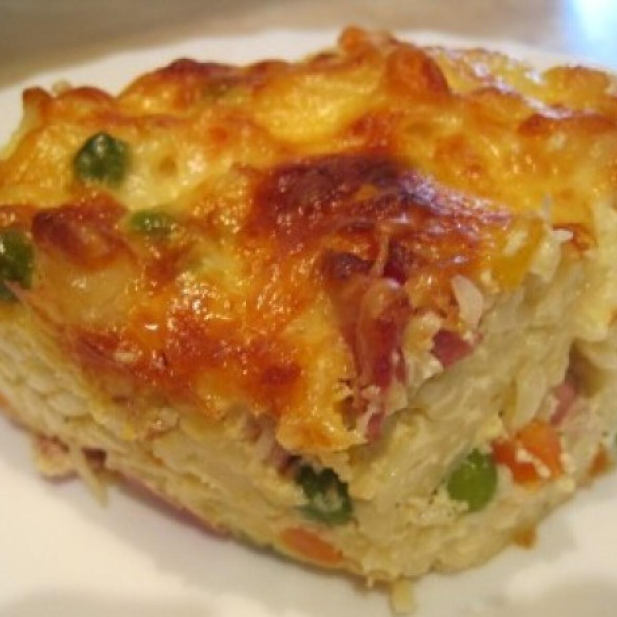 Ezen a képen: Csőben sült zöldséges tészta