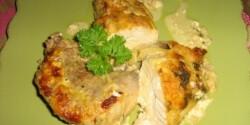 Tejszínes-sajtos csirke