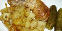 Sütőzacskóban sült fokhagymás csirkecomb burgonyával