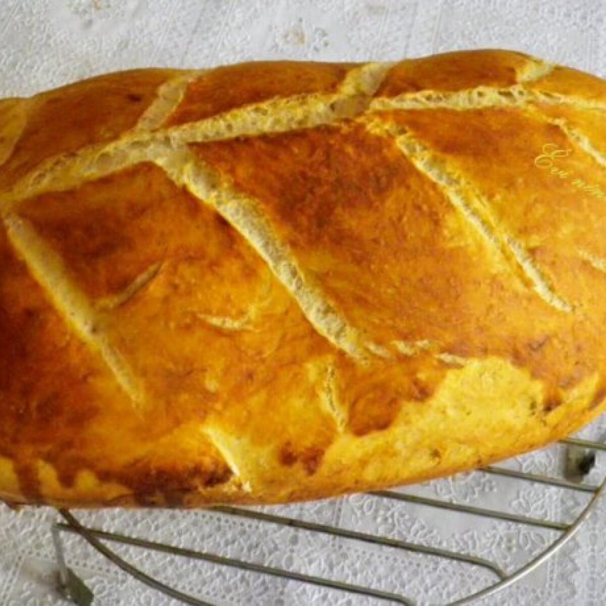 Ezen a képen: Kovászos fehér kenyér Évi nénitől
