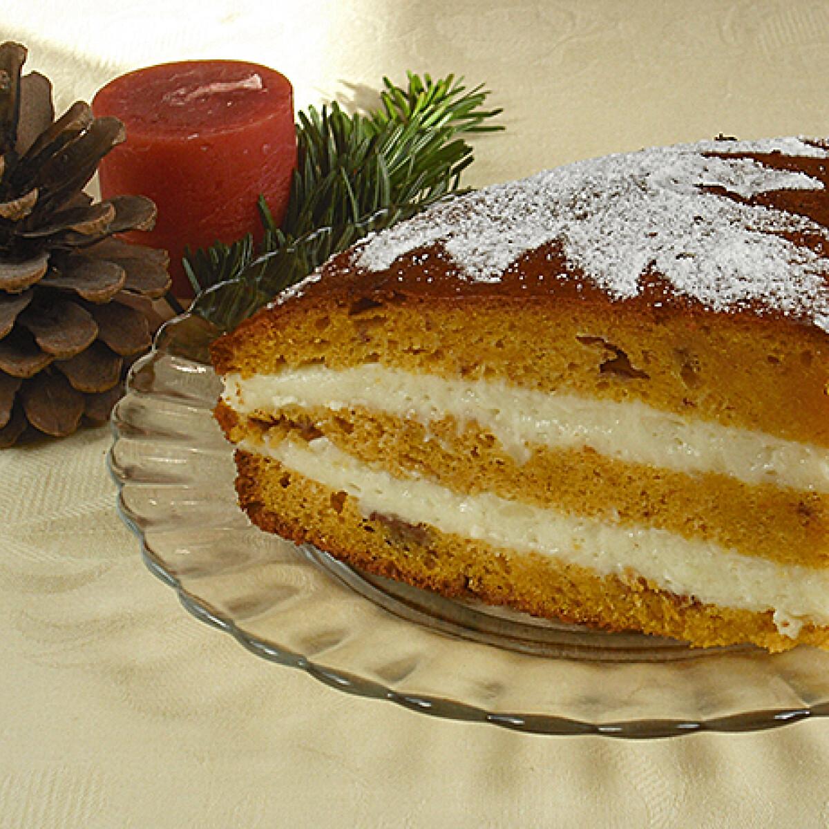 Sütőtökös torta