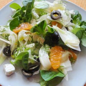 Édeskömény saláta mandarinnal és fetával