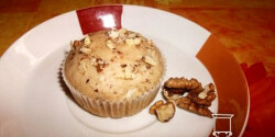Diós-rumos muffin