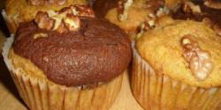 Sütőtökös-almás-diós muffin