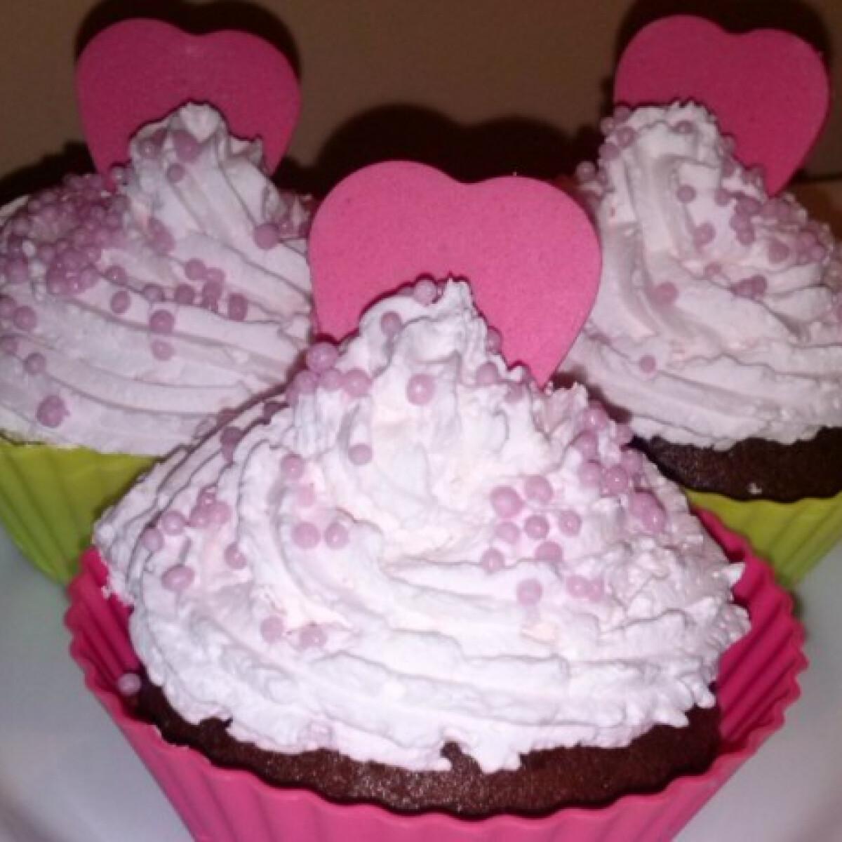 Valentin-napi cupcake