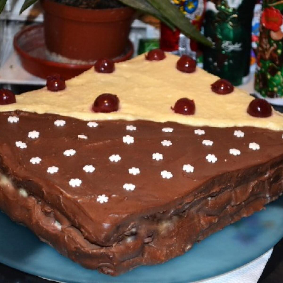 Ezen a képen: Csupa csoki torta eras konyhájából