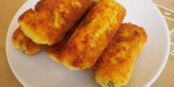 Ementáli sajtos krumplikrokett