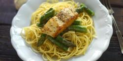 Citromos-spárgás spagetti vajhallal