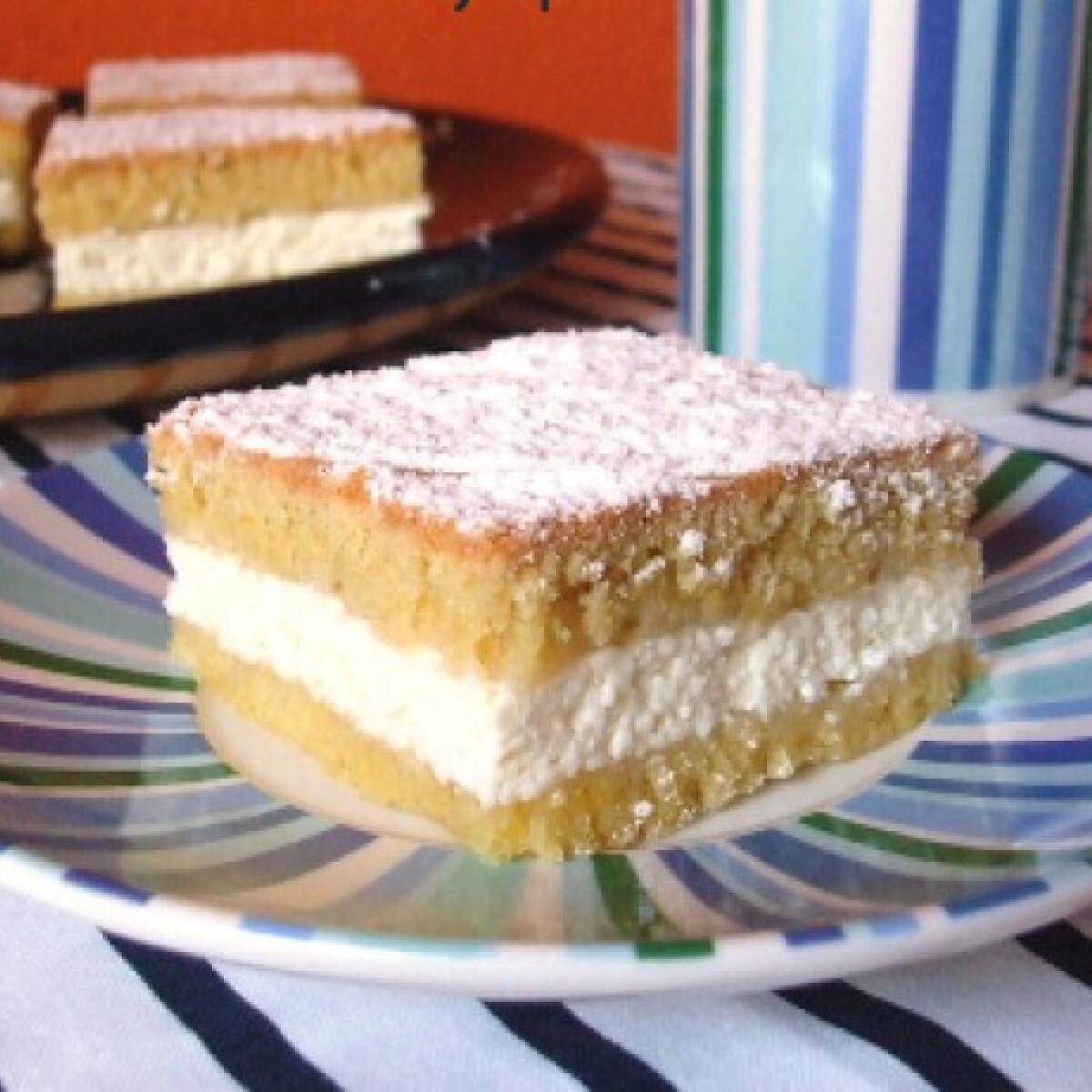 Ezen a képen: Zsíros túrós sütemény