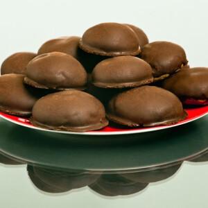 Lebkuchen - Csokis mézes puszedli szilvalekvárral