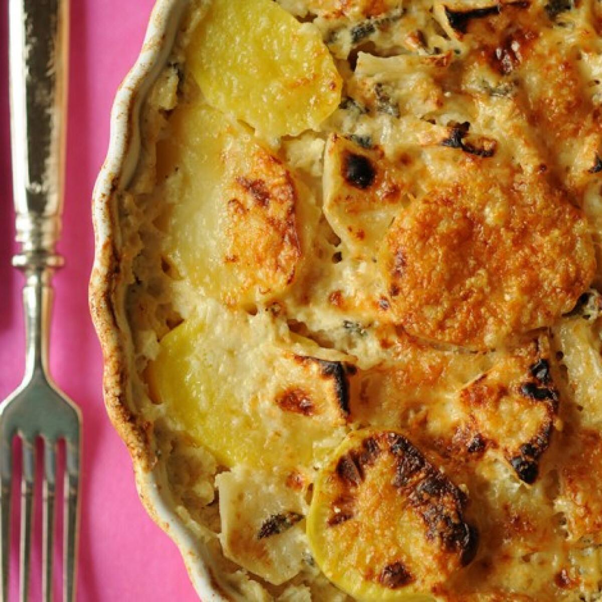Ezen a képen: Csőben sült zelleres krumpli