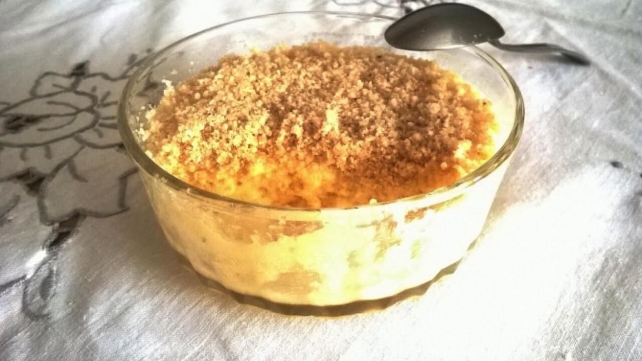 Citrom mousse quinoa morzsával