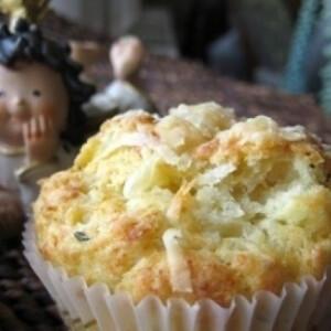 Túrós-sajtos muffin