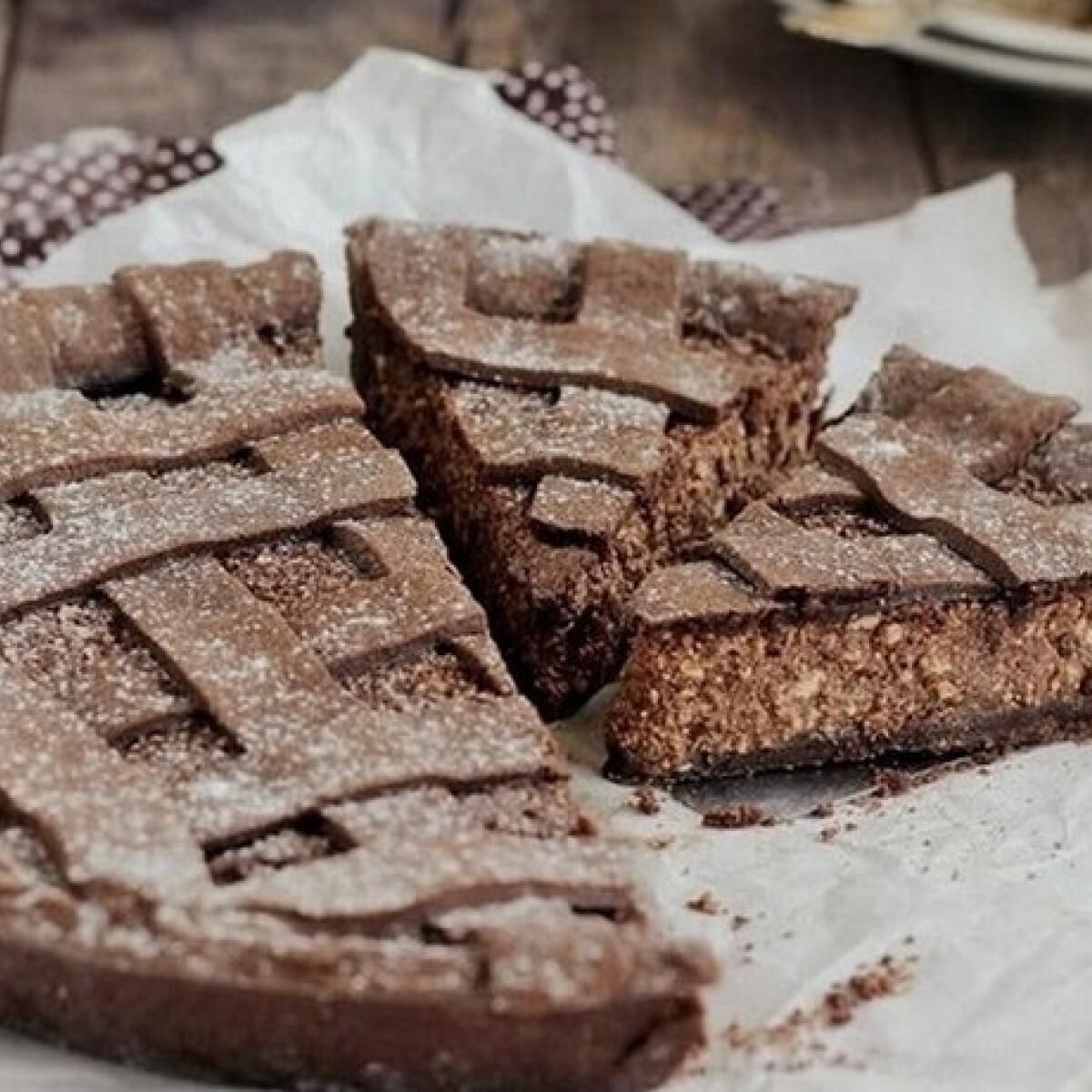 Csokis túrós crostata