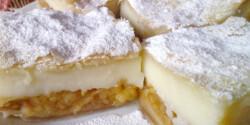 Almás-pudingos leveles tésztában