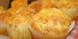 Sajtos-túrós krumplis muffin