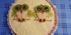 Baglyos joghurtos torta