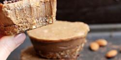 Mogyoróvajas vegán csokoládés sajttorta