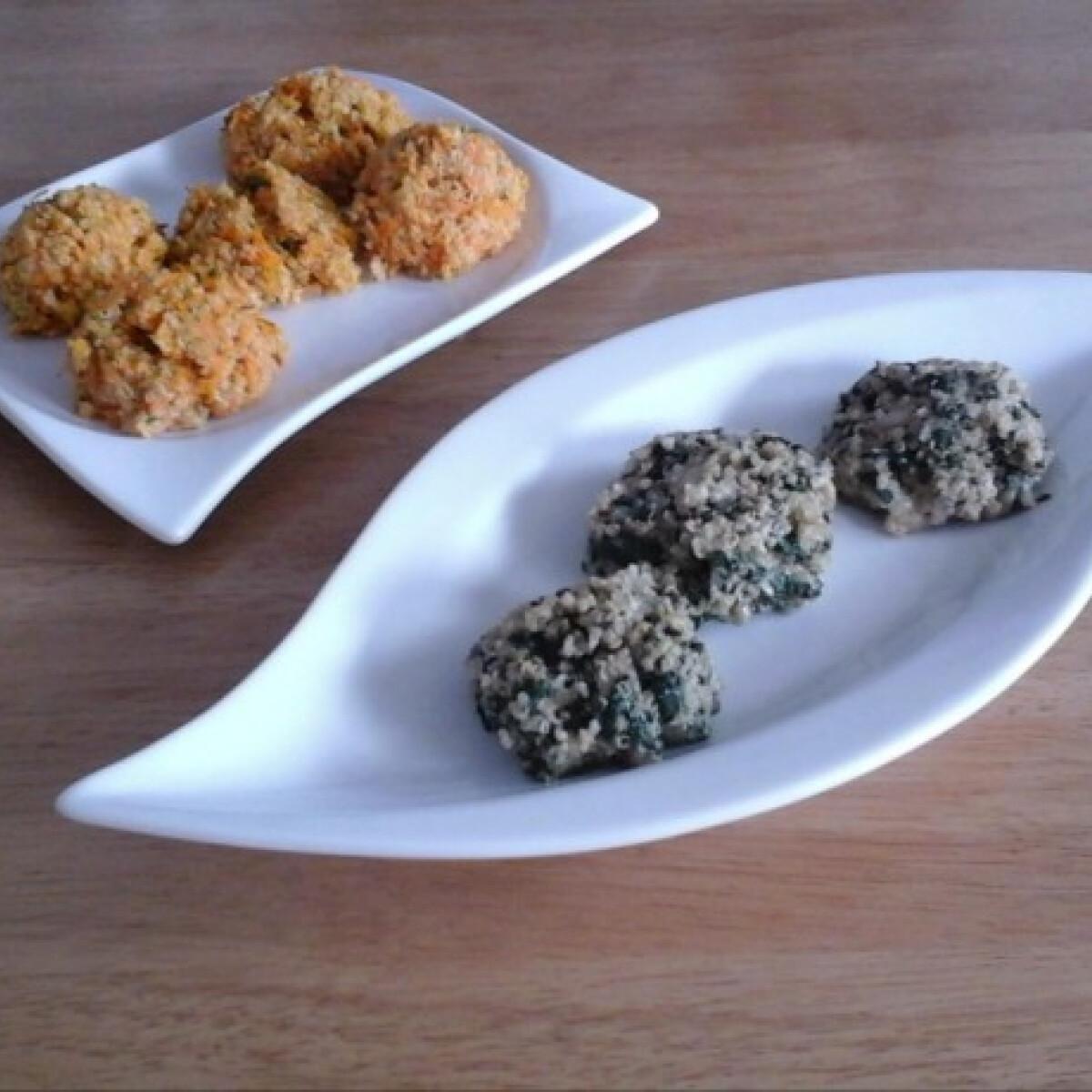 Zöldséges quinoa rakások