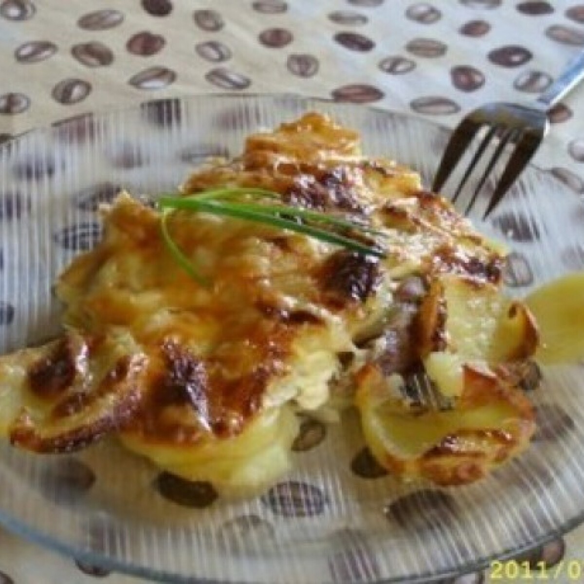 Sült tarja krumplitakaró alatt