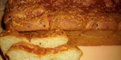 Sajtos-hagymás kenyér
