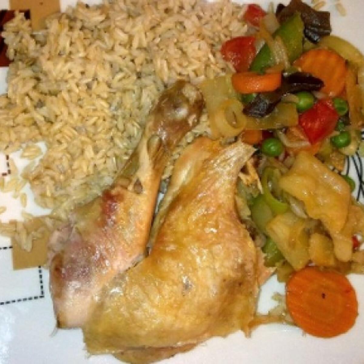 Ezen a képen: Sóágyon sült csirke Ercsi konyhájából