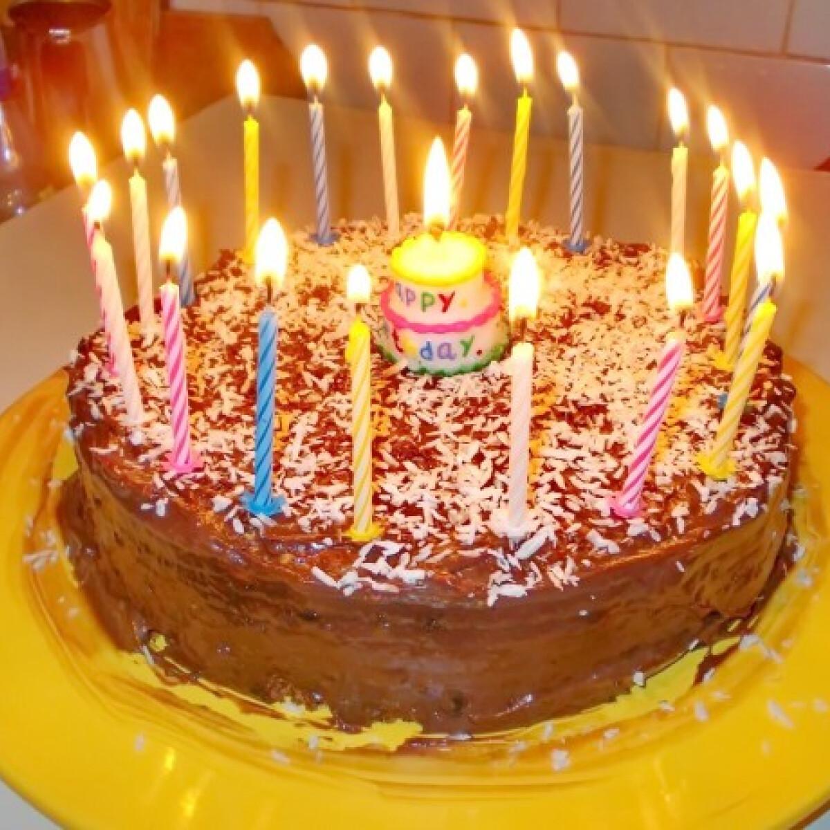 Csokipudingos kókuszos torta