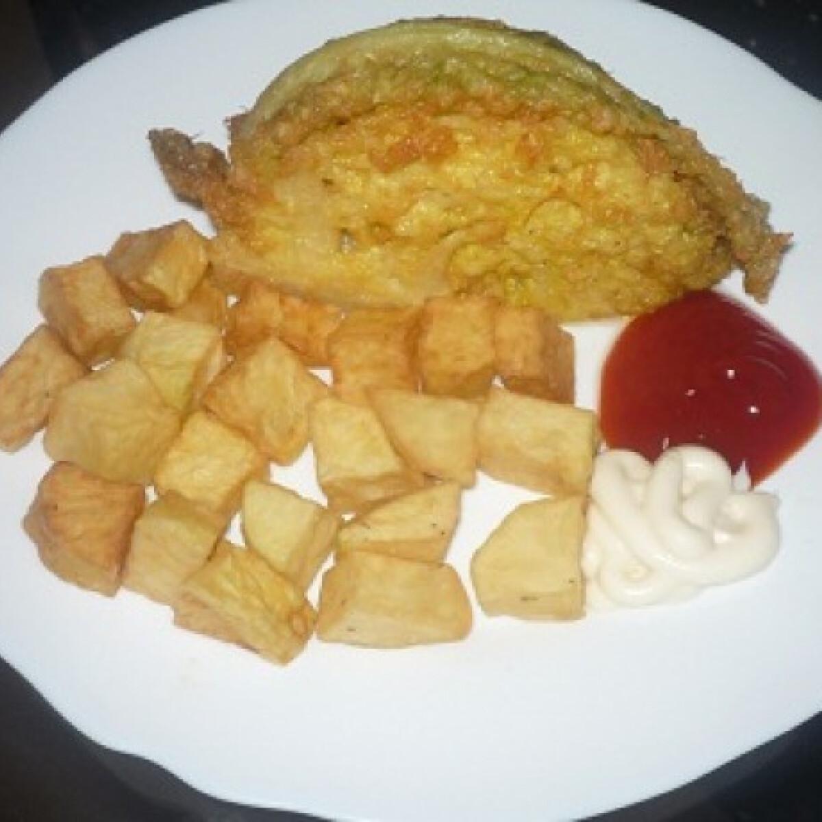 Ezen a képen: Sült kelkáposzta fűszeres burgonyával
