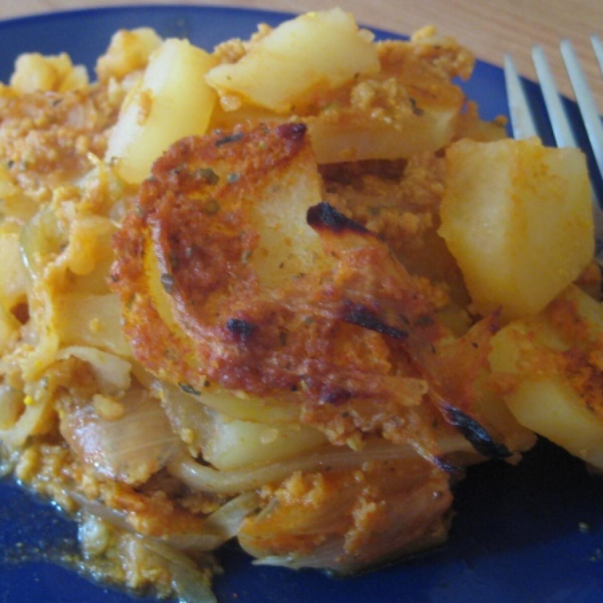 Ezen a képen: Vegán rakott krumpli