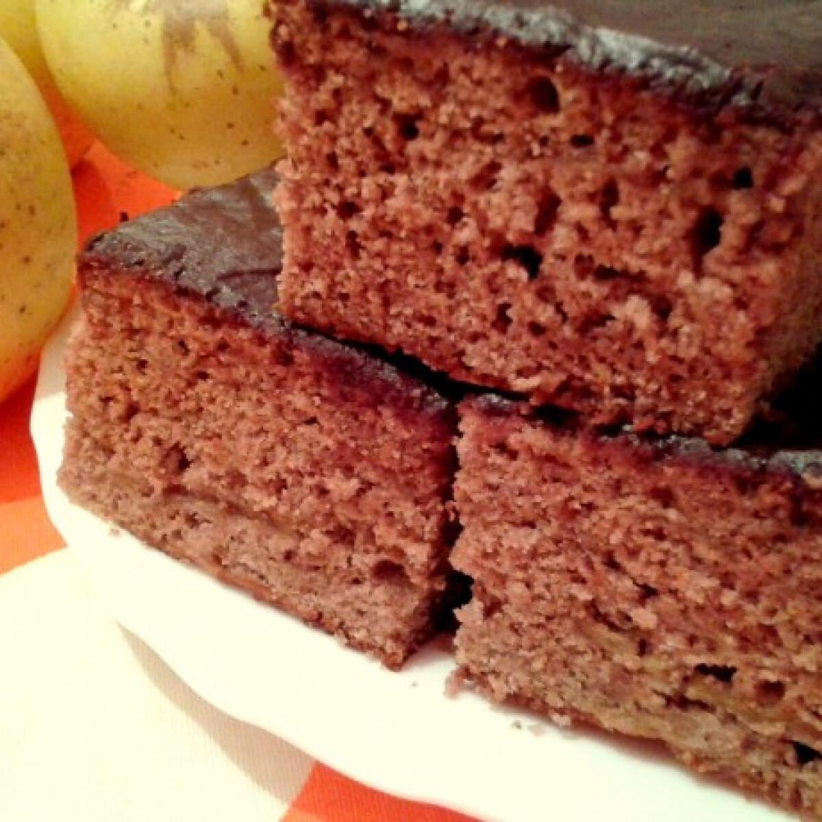 Ezen a képen: Csokitetős-almás hatos süti