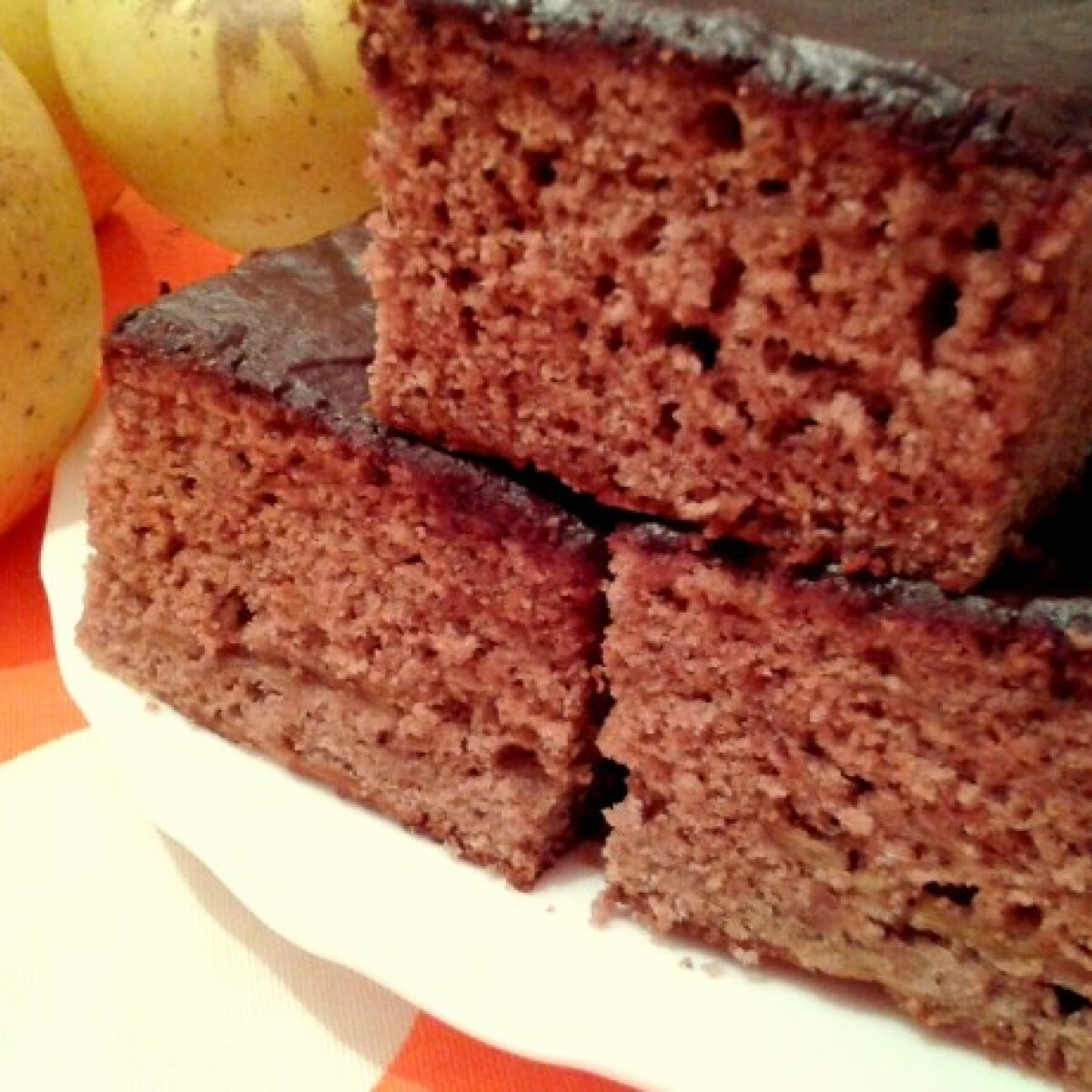 Csokitetős-almás hatos süti