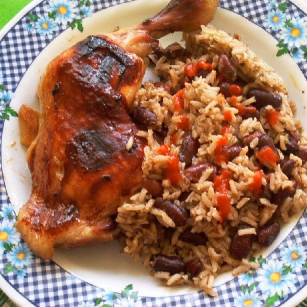 Pekingi csirke babos rizzsel
