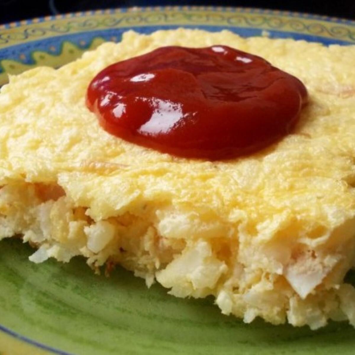 Sonkás-sajtos rizsfelfújt