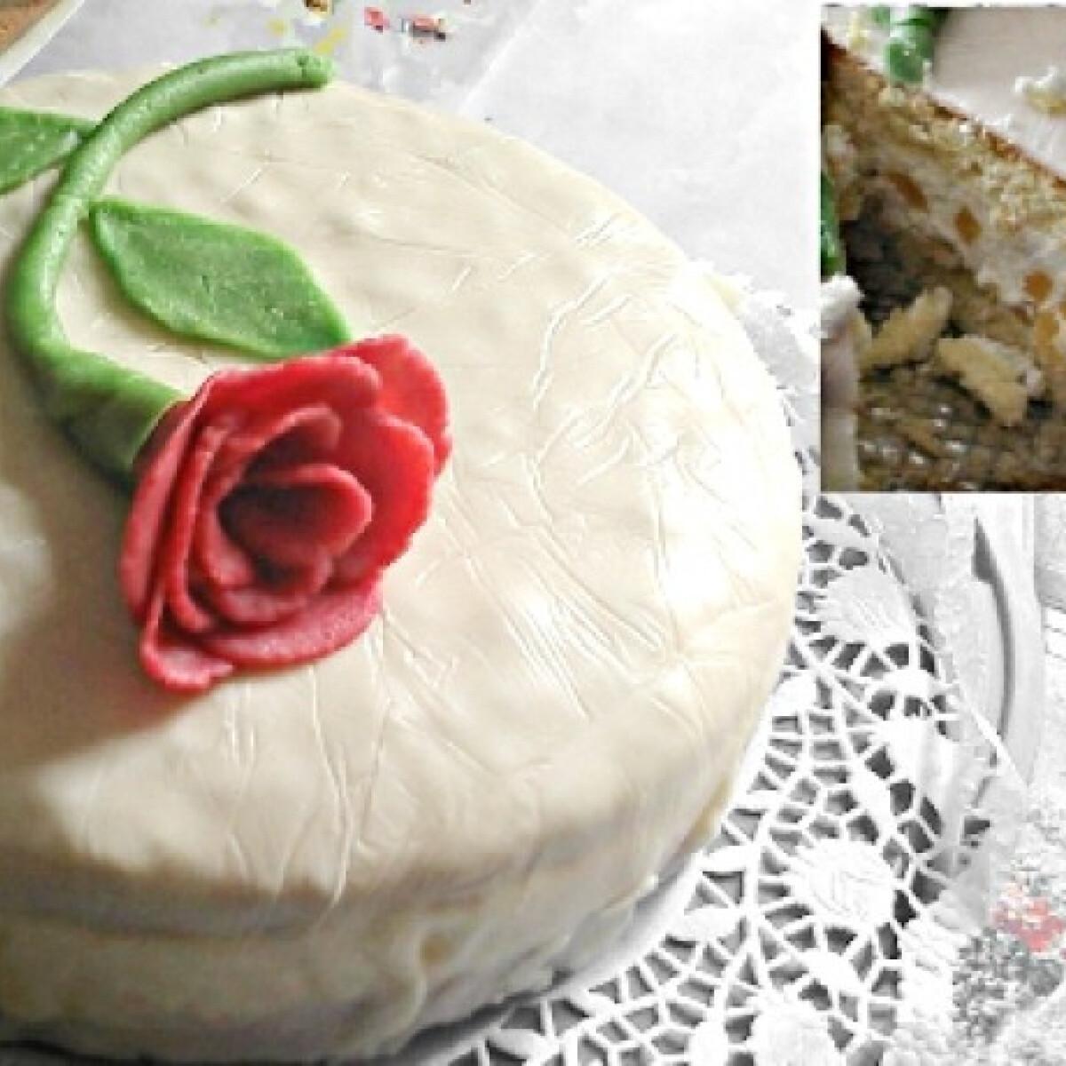 Barackos-túrós-joghurtos torta