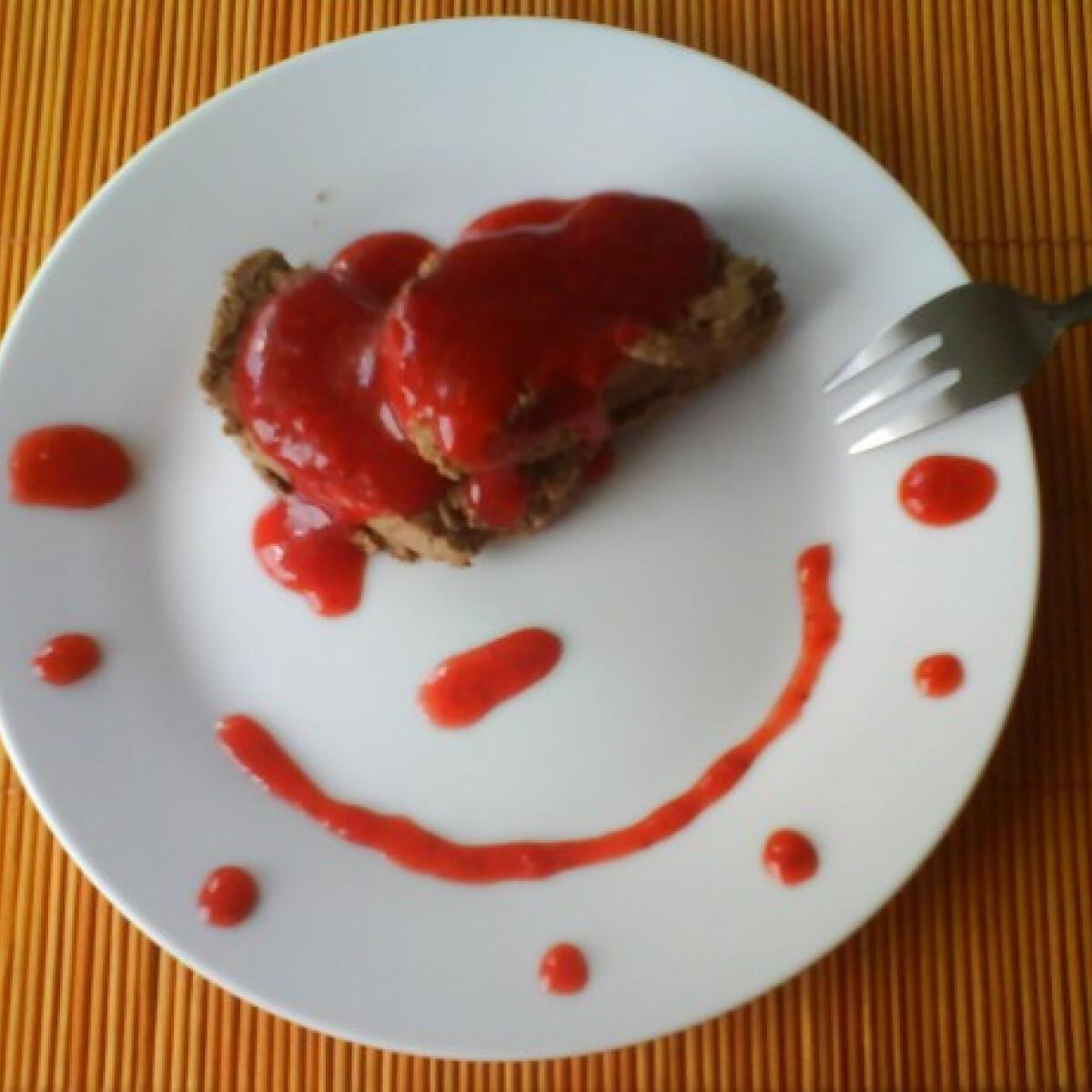 Ezen a képen: Csokiterrine eperöntettel