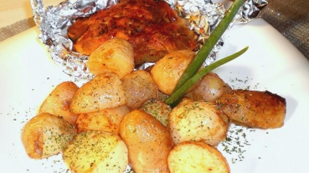 Citromos-chilis pulykabatyuk újburgonyával