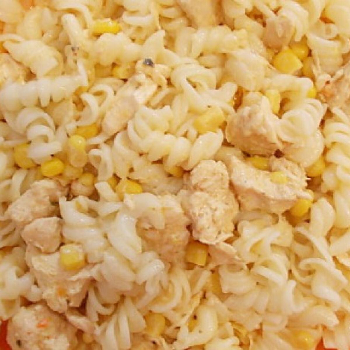 Tejszínes csirkeragu kukoricával