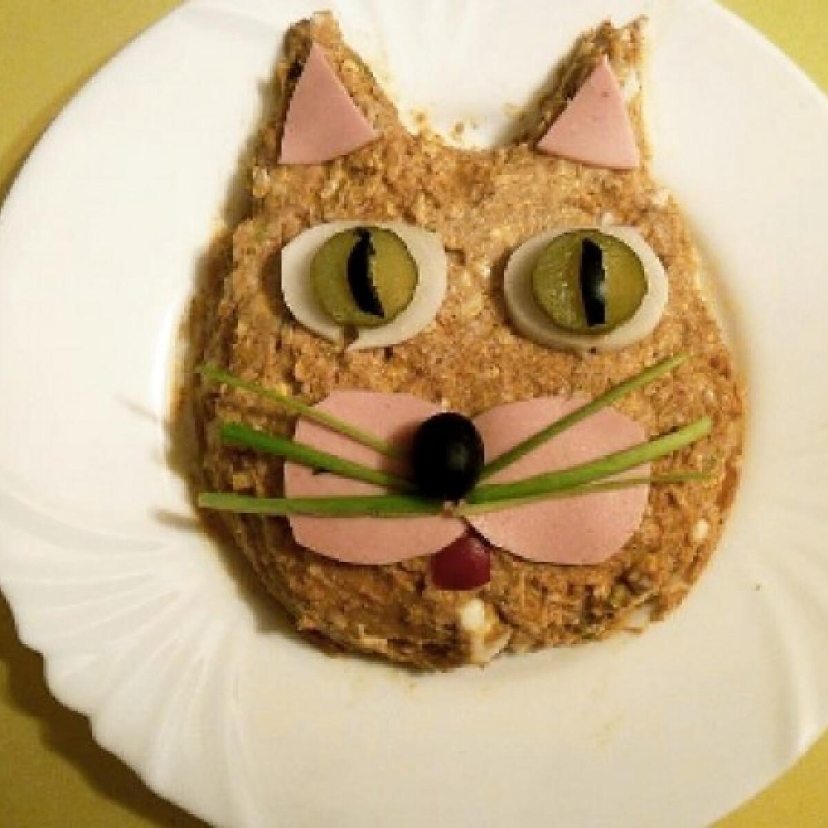 Ezen a képen: Macskafej alakú töpörtyűkrém