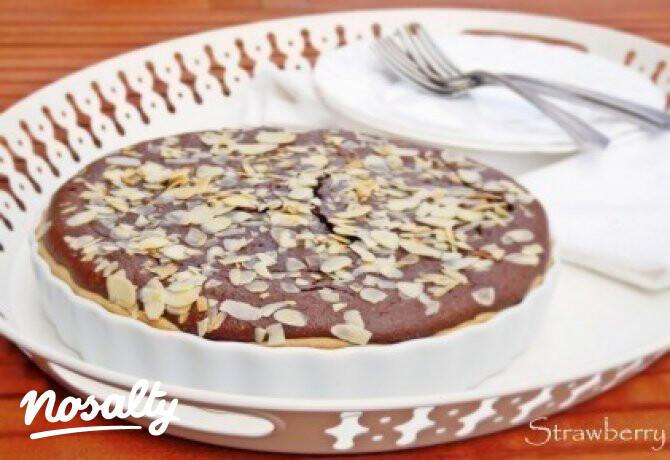 Ezen a képen: Csokis-mandulás pite