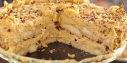 Mogyorós karamellkrém torta sütés nélkül