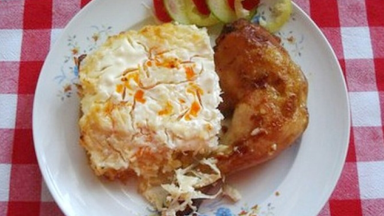 Savanyú káposztás-rizses csirkecomb