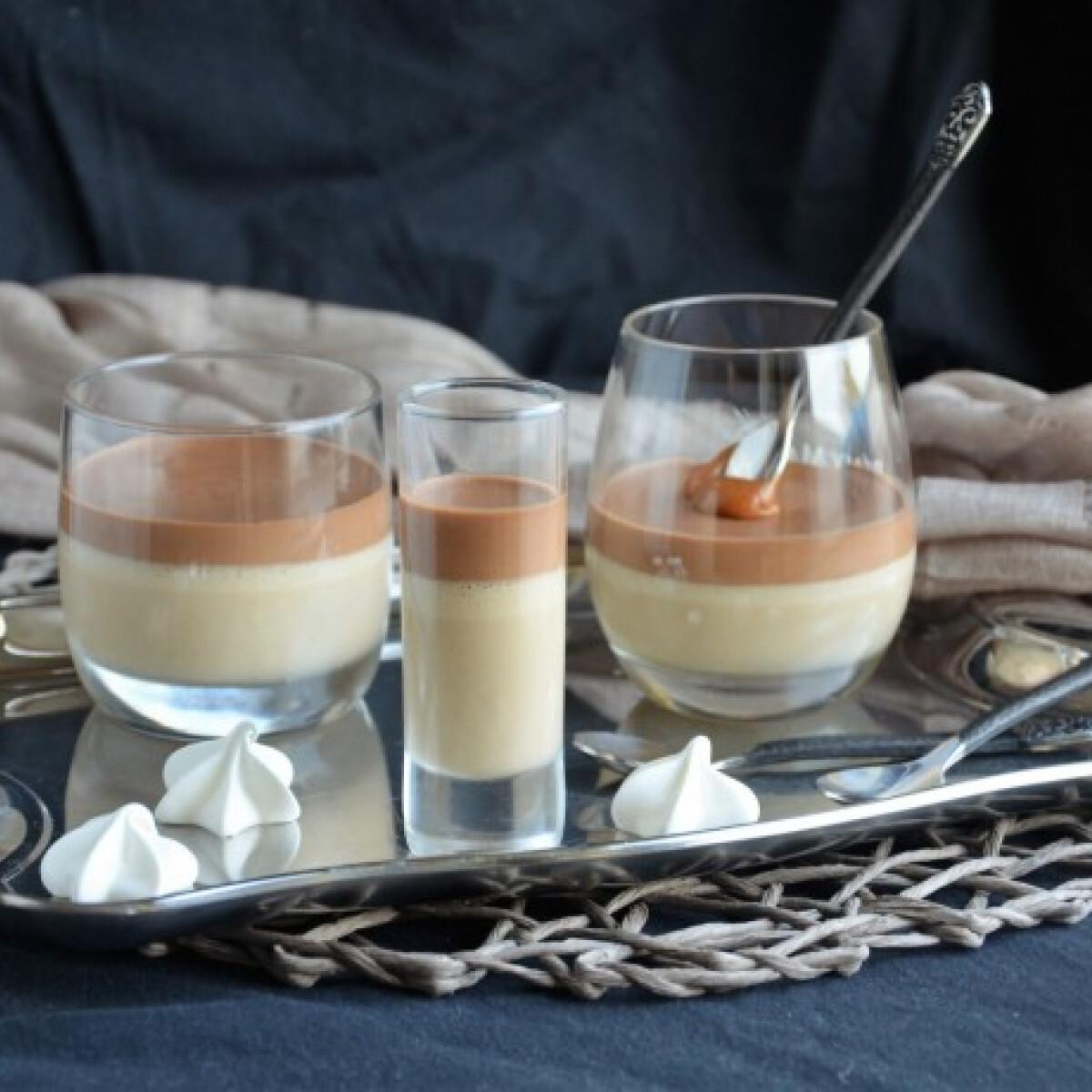 Ezen a képen: Kávémousse csokoládéval és sós karamellel