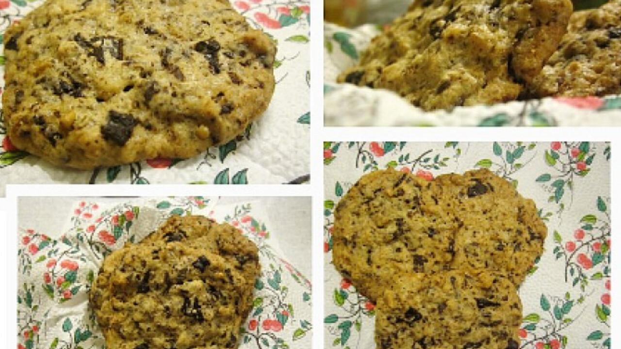 Csokibogyós-diós keksz